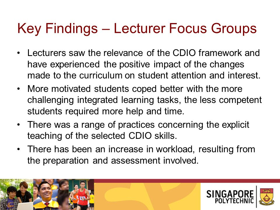 Key Findings – Lecturer Focus Groups