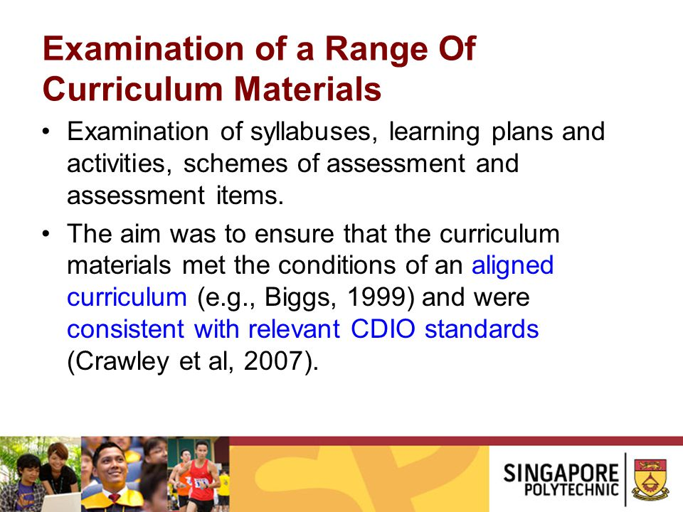 Examination of a Range Of Curriculum Materials