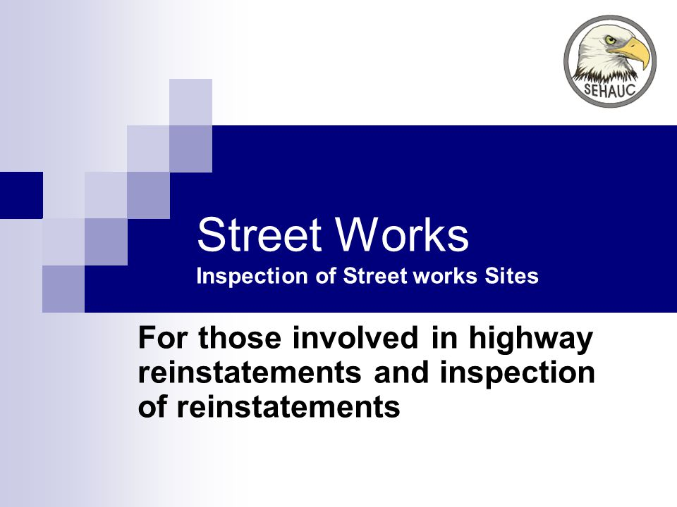 Street Works Inspection of Street works Sites