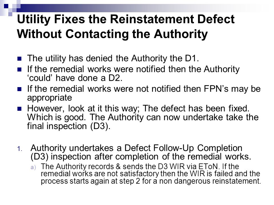 Utility Fixes the Reinstatement Defect Without Contacting the Authority