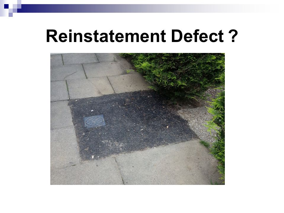 Reinstatement Defect