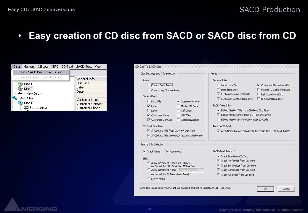 Easy CD↔SACD conversions