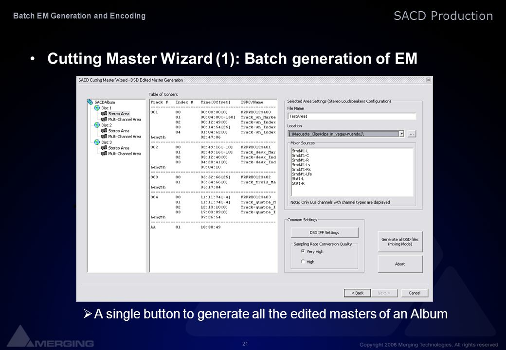 Batch EM Generation and Encoding