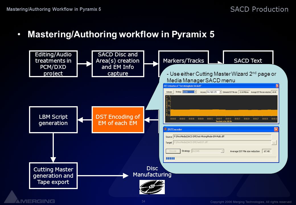 Mastering/Authoring Workflow in Pyramix 5