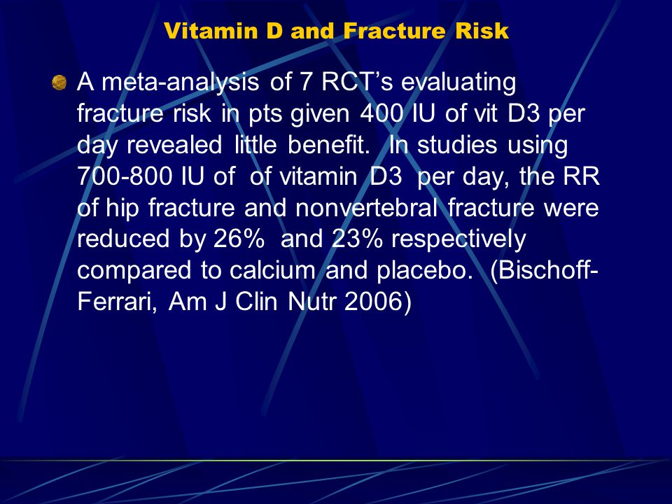 Vitamin D and Fracture Risk