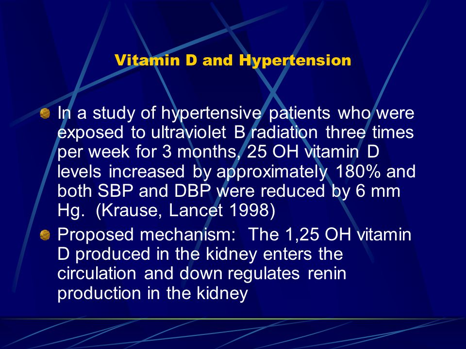 Vitamin D and Hypertension