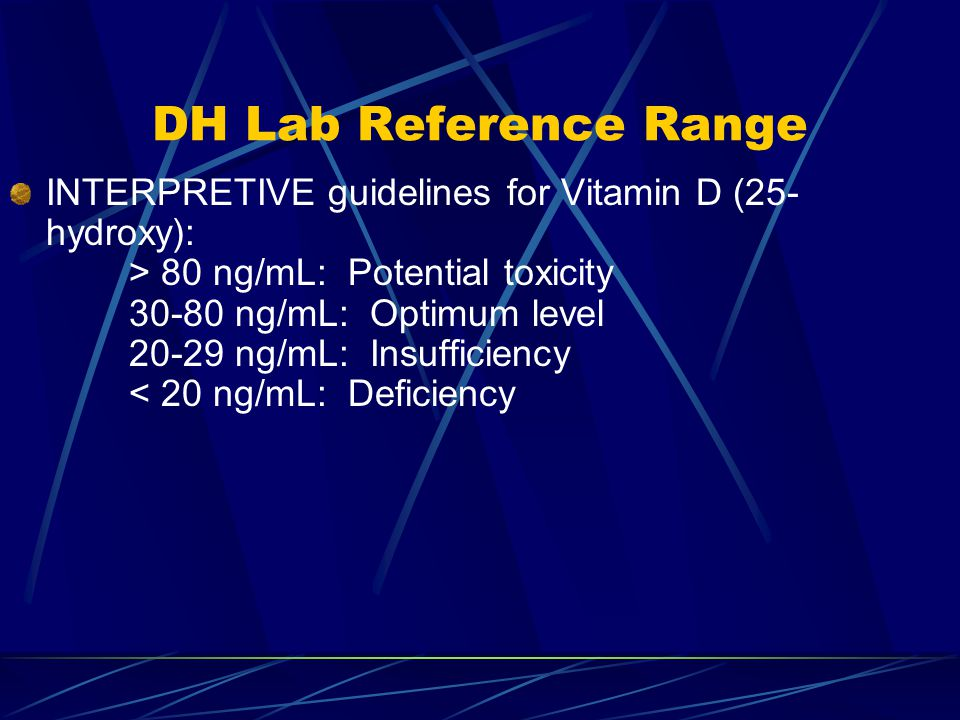 DH Lab Reference Range