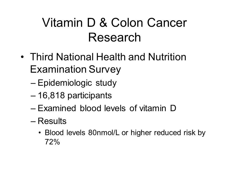 Vitamin D & Colon Cancer Research