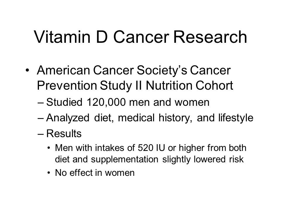 Cancer Prevention Study II. The American Cancer Society ...