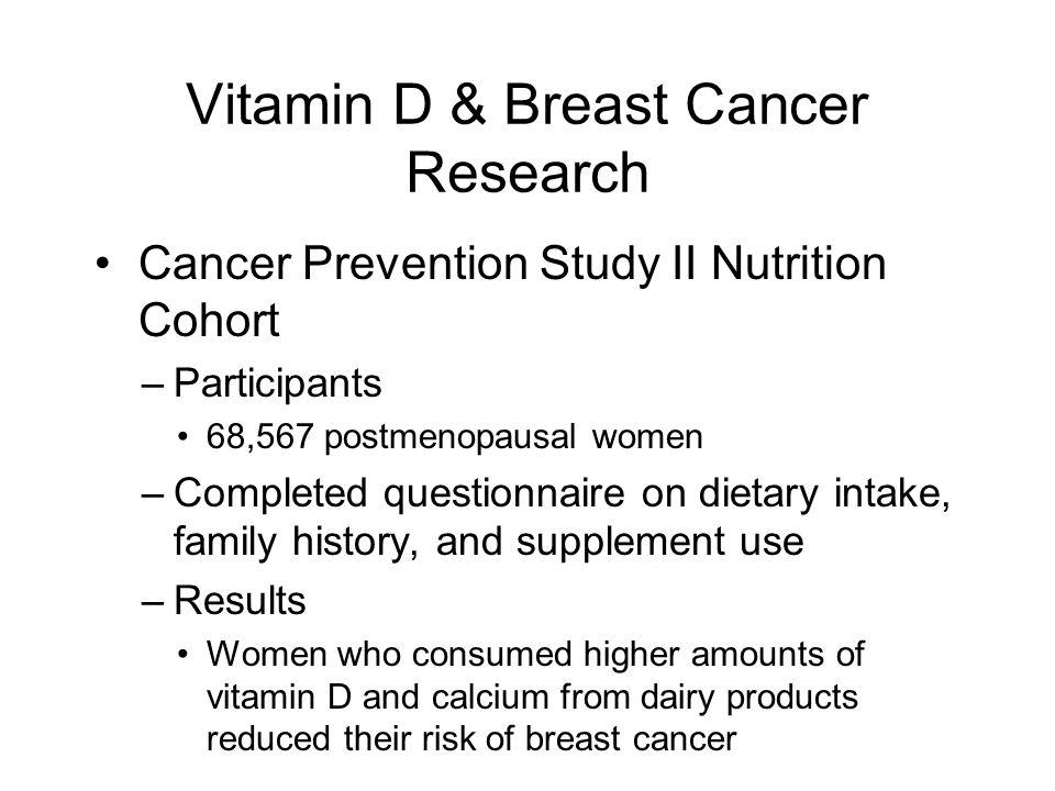 Vitamin D & Breast Cancer Research