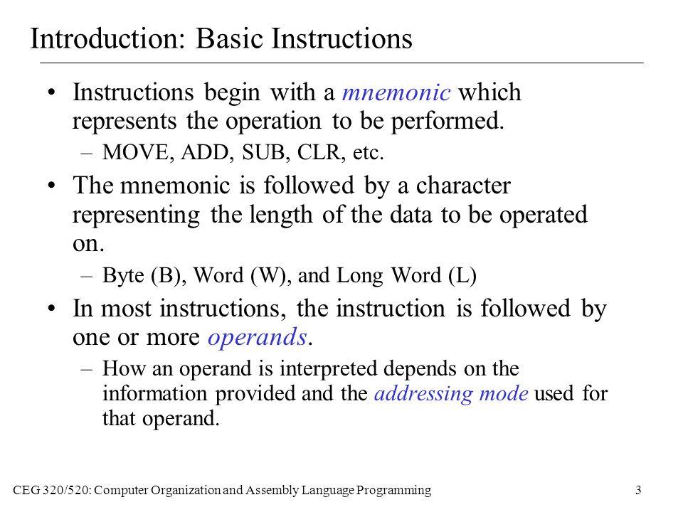 Introduction: Basic Instructions