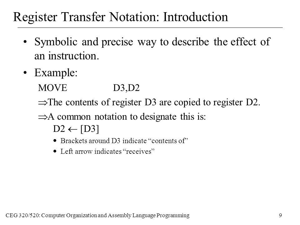 Register Transfer Notation: Introduction