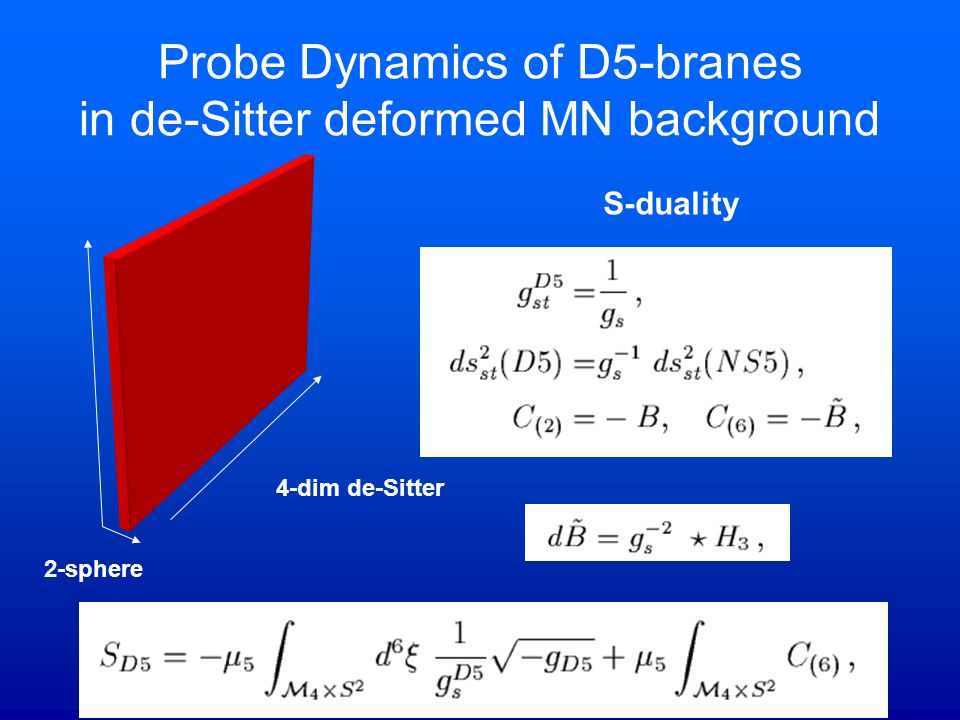 Probe Dynamics of D5-branes in de-Sitter deformed MN background