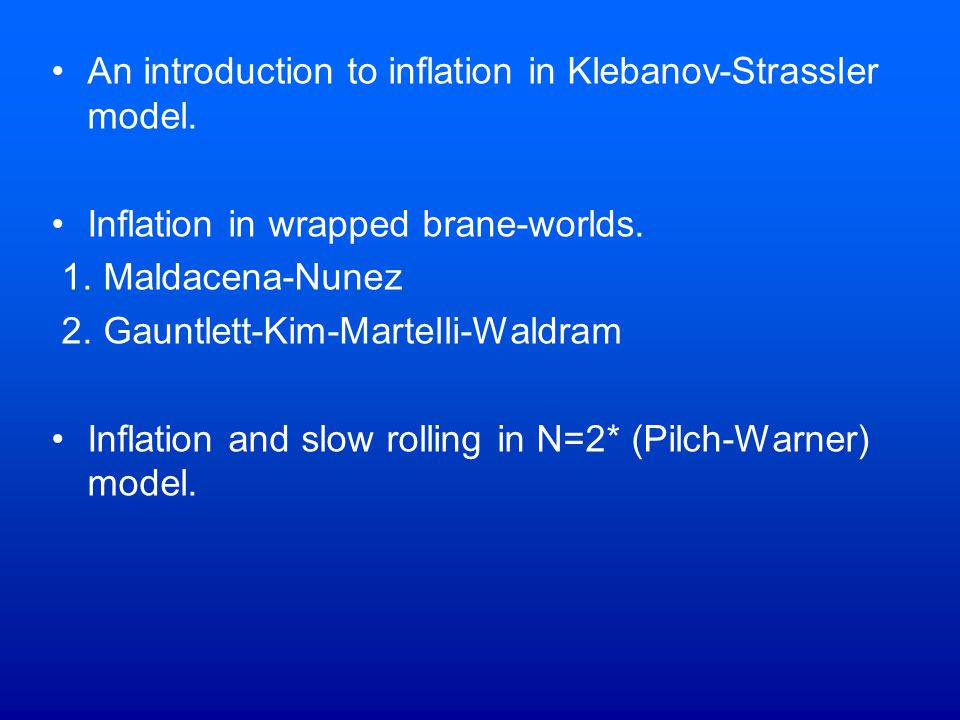 An introduction to inflation in Klebanov-Strassler model.