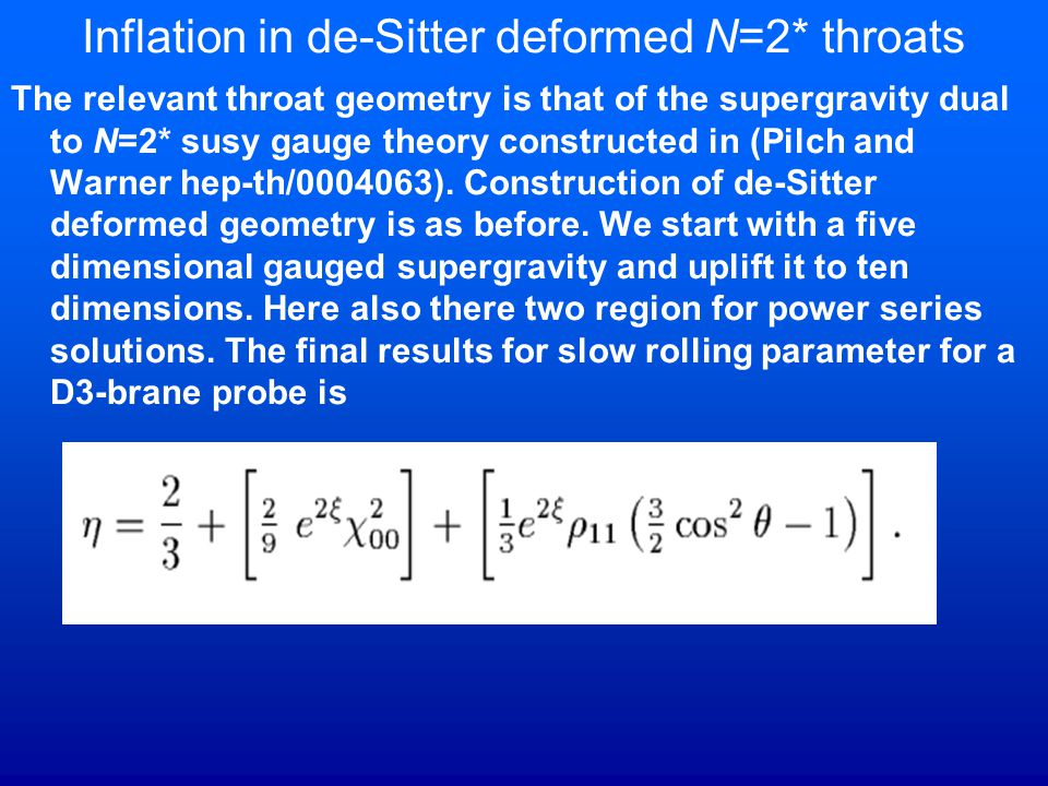 Inflation in de-Sitter deformed N=2* throats