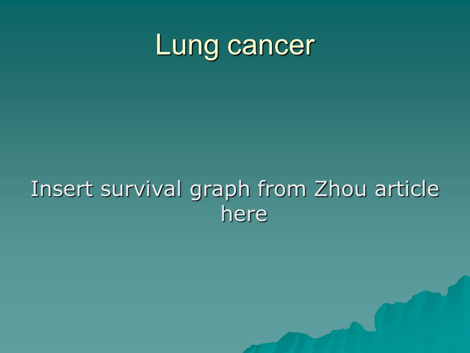 Insert survival graph from Zhou article here