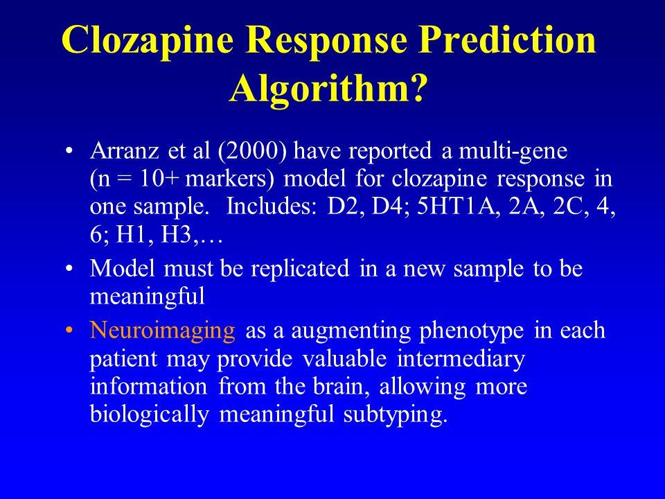 Clozapine Response Prediction Algorithm