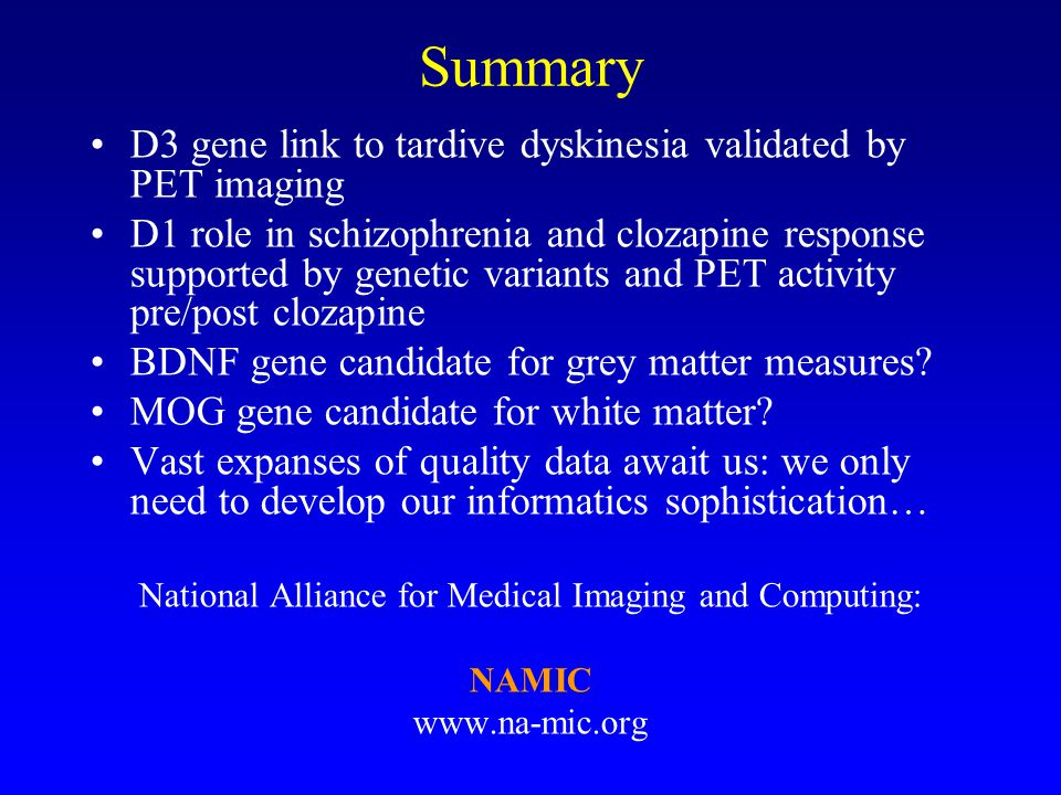 National Alliance for Medical Imaging and Computing: