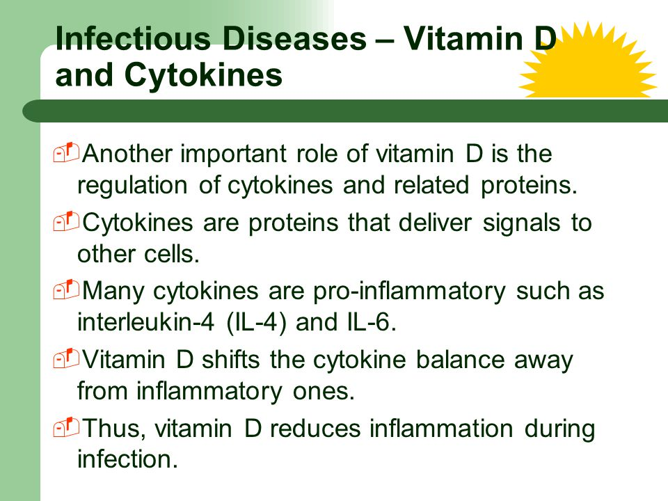 Infectious Diseases – Vitamin D and Cytokines
