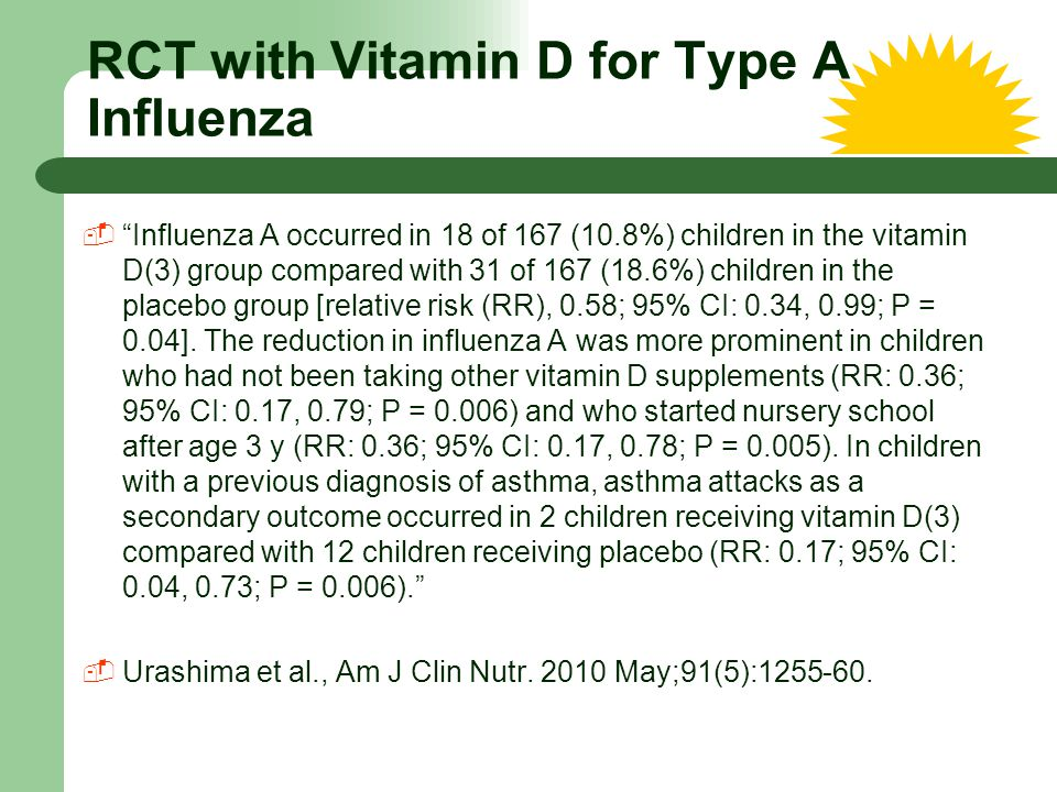 RCT with Vitamin D for Type A Influenza