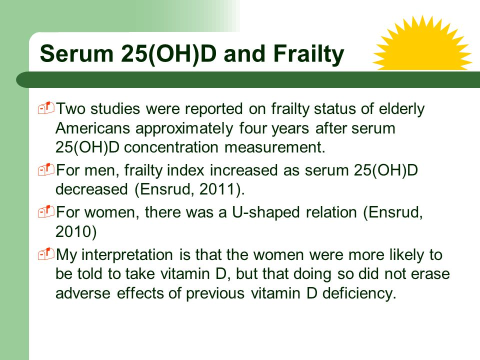 Serum 25(OH)D and Frailty