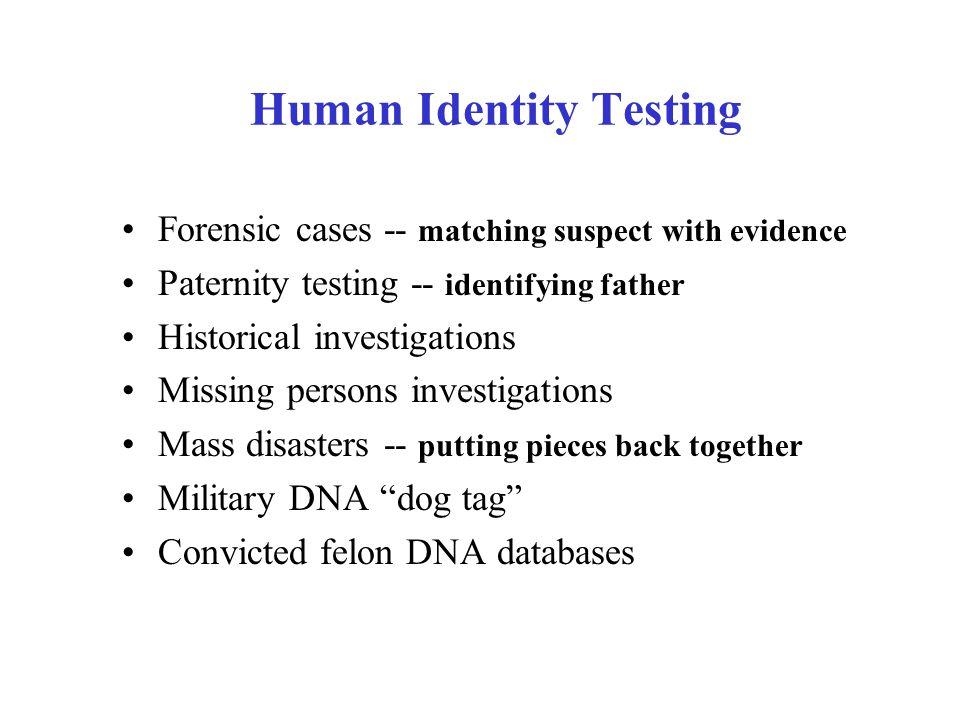 Human Identity Testing