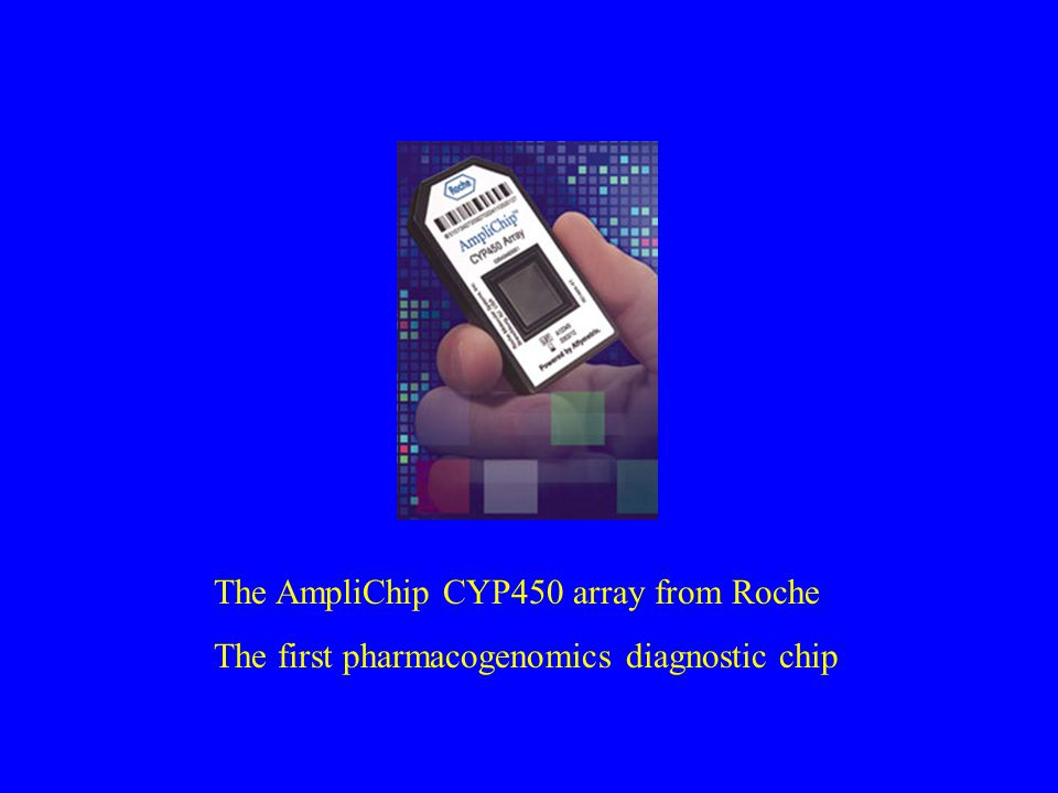 The AmpliChip CYP450 array from Roche