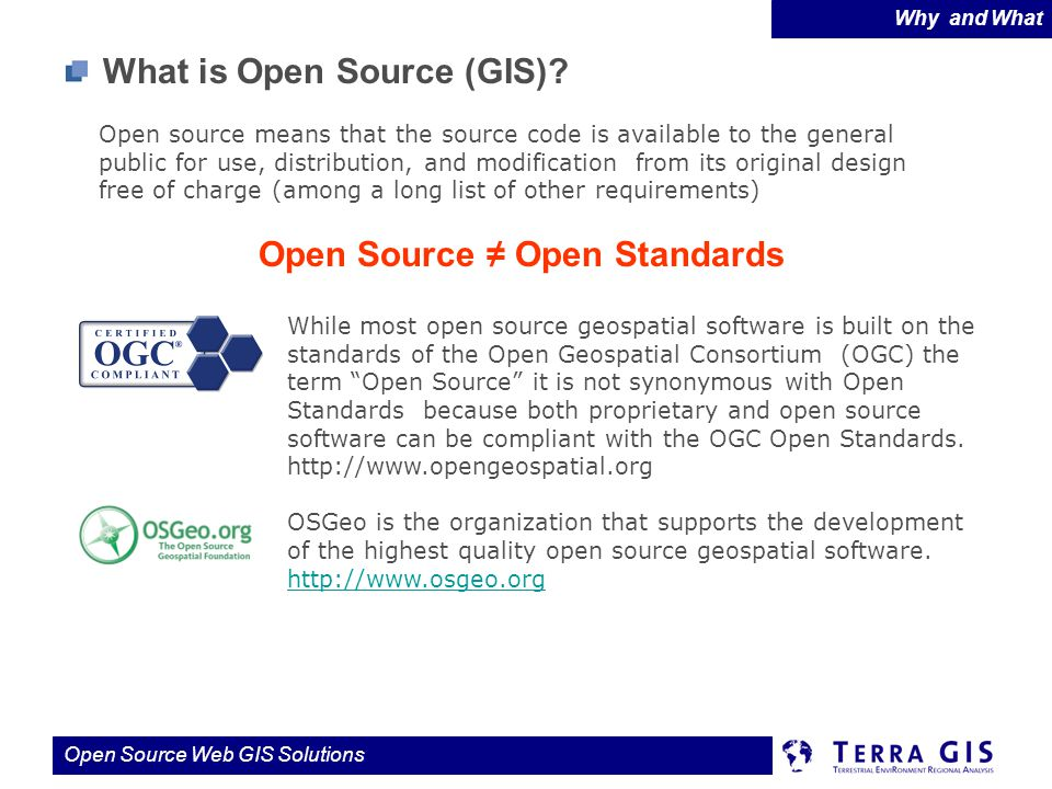 Open Source ≠ Open Standards