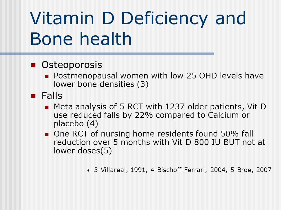 Vitamin D Deficiency and Bone health
