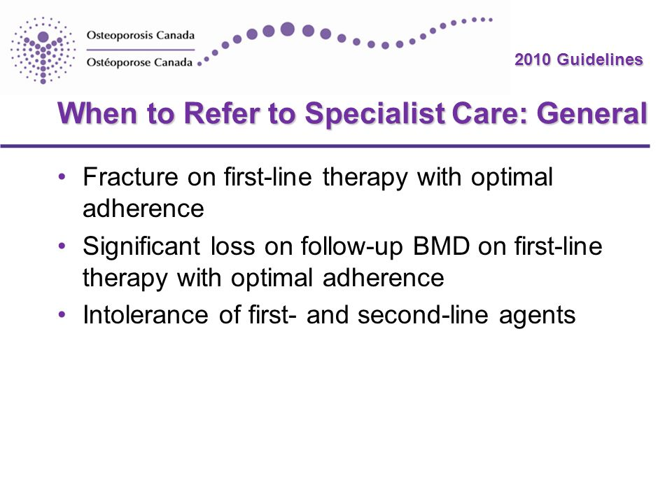 When to Refer to Specialist Care: General