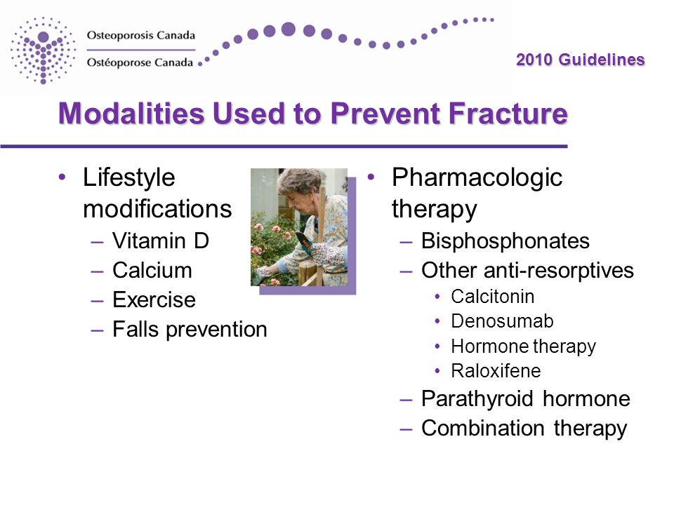 Modalities Used to Prevent Fracture