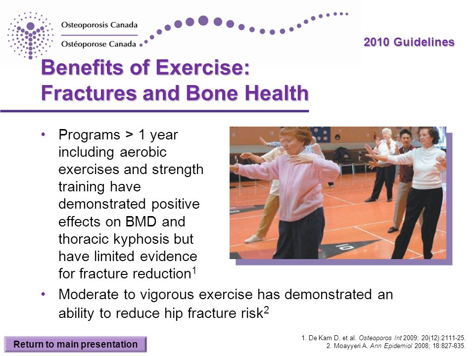 Benefits of Exercise: Fractures and Bone Health