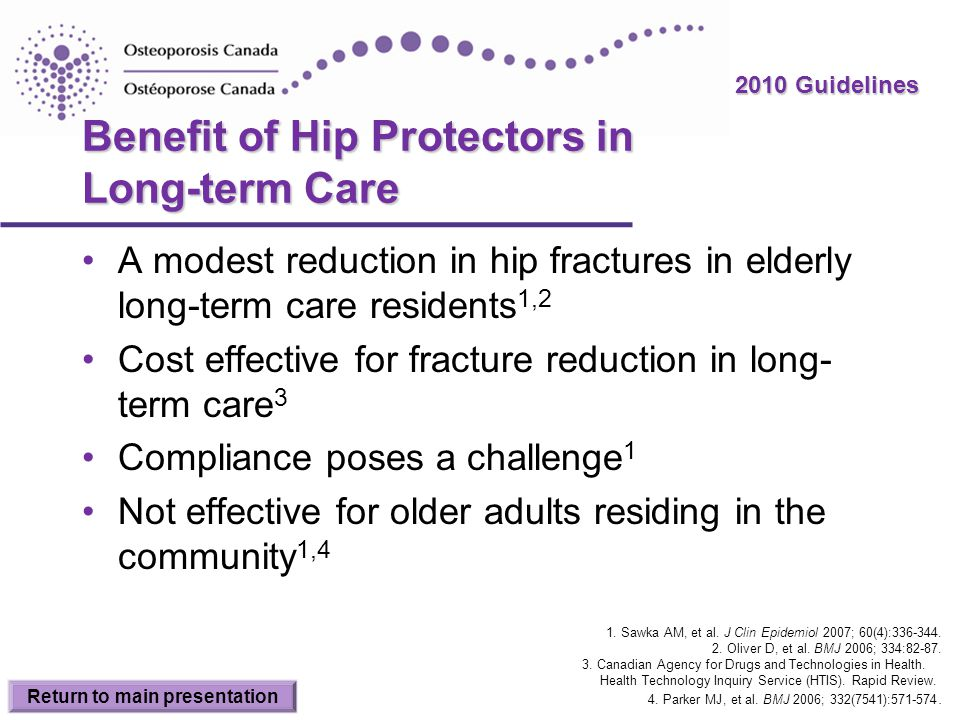 Benefit of Hip Protectors in Long-term Care