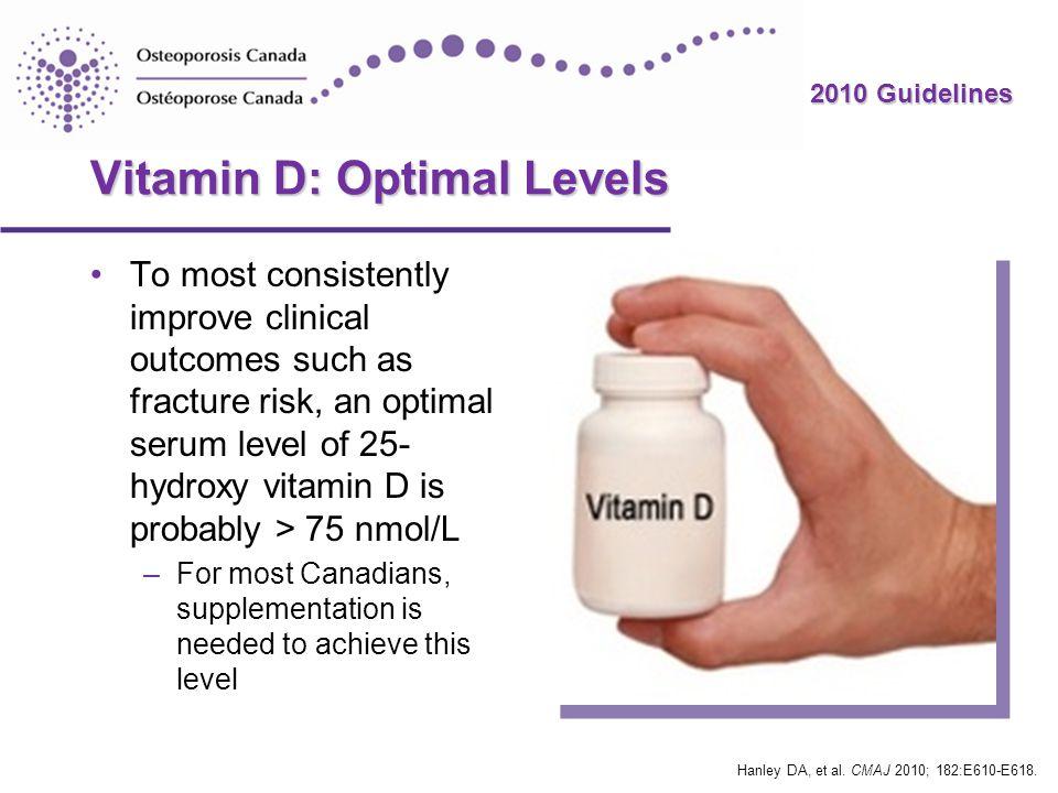 Vitamin D: Optimal Levels