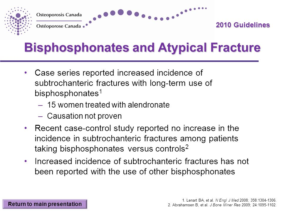 Bisphosphonates and Atypical Fracture