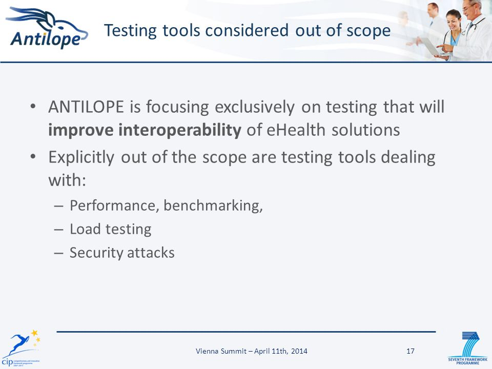 Testing tools considered out of scope
