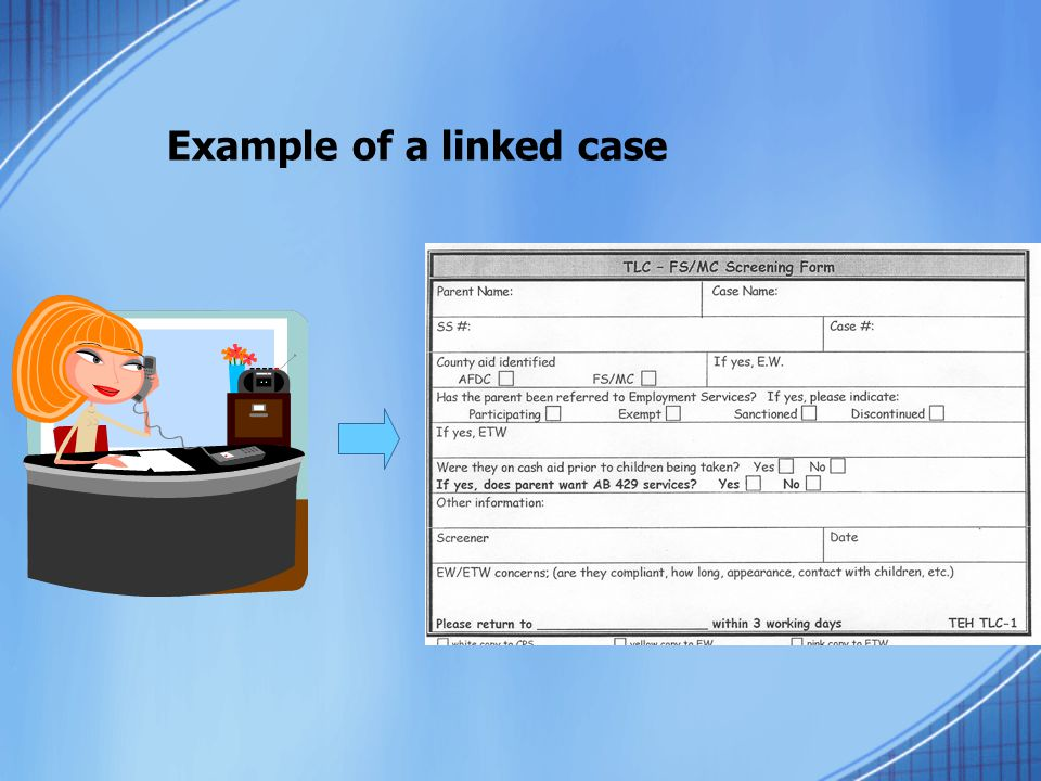 Example of a linked case