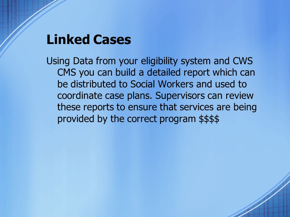 Linked Cases