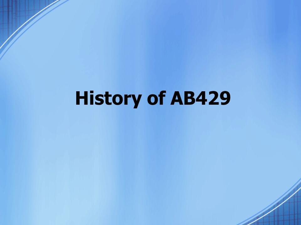 History of AB429