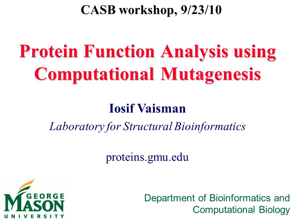 Protein Function Analysis using Computational Mutagenesis