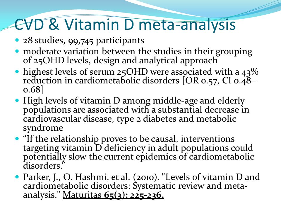 CVD & Vitamin D meta-analysis