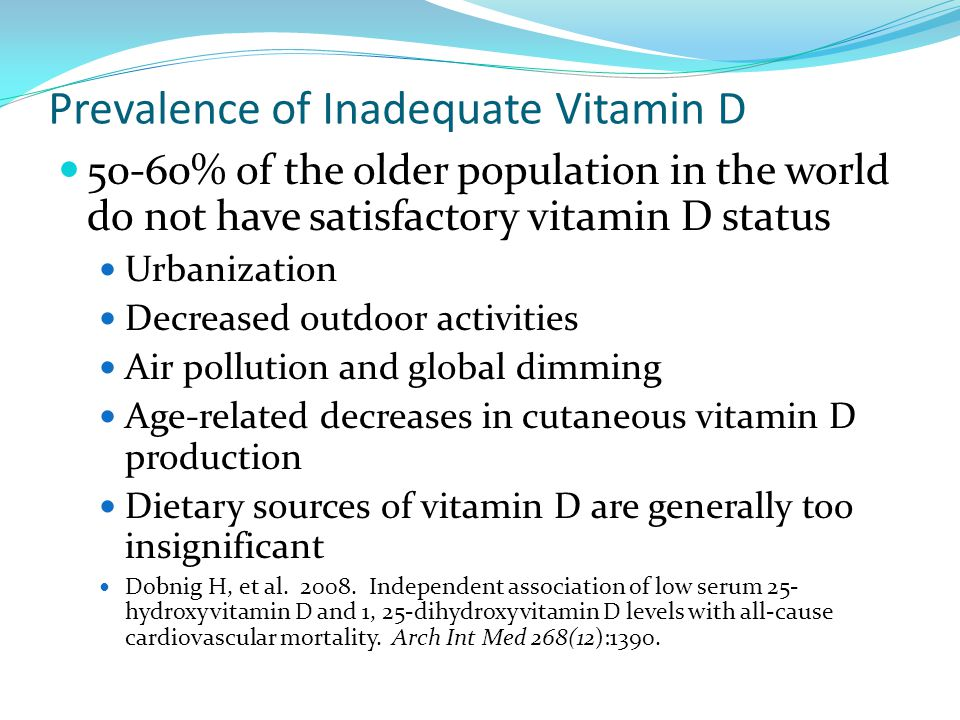 Prevalence of Inadequate Vitamin D