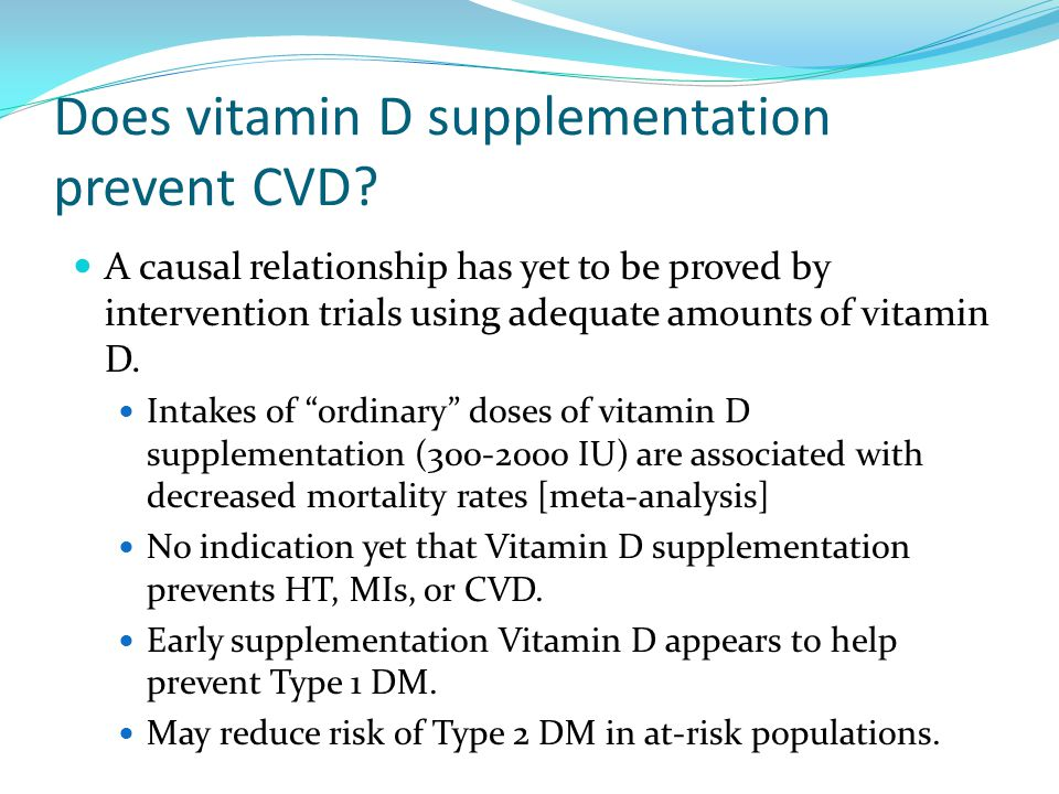 Does vitamin D supplementation prevent CVD
