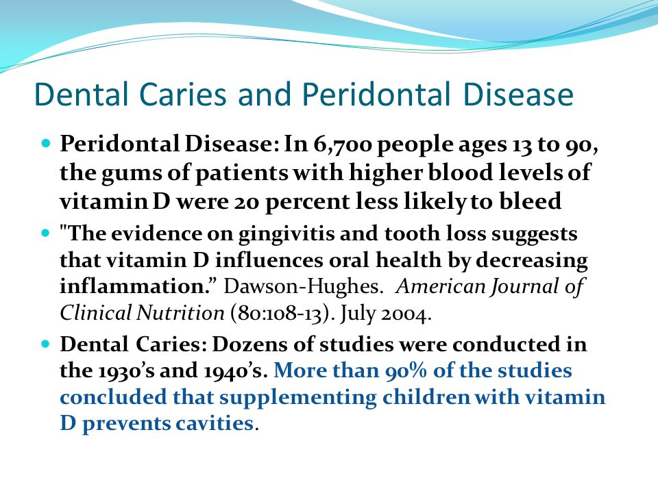 Dental Caries and Peridontal Disease