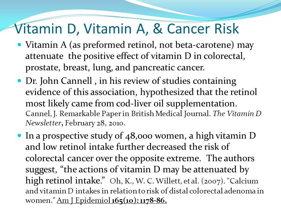 Vitamin D, Vitamin A, & Cancer Risk