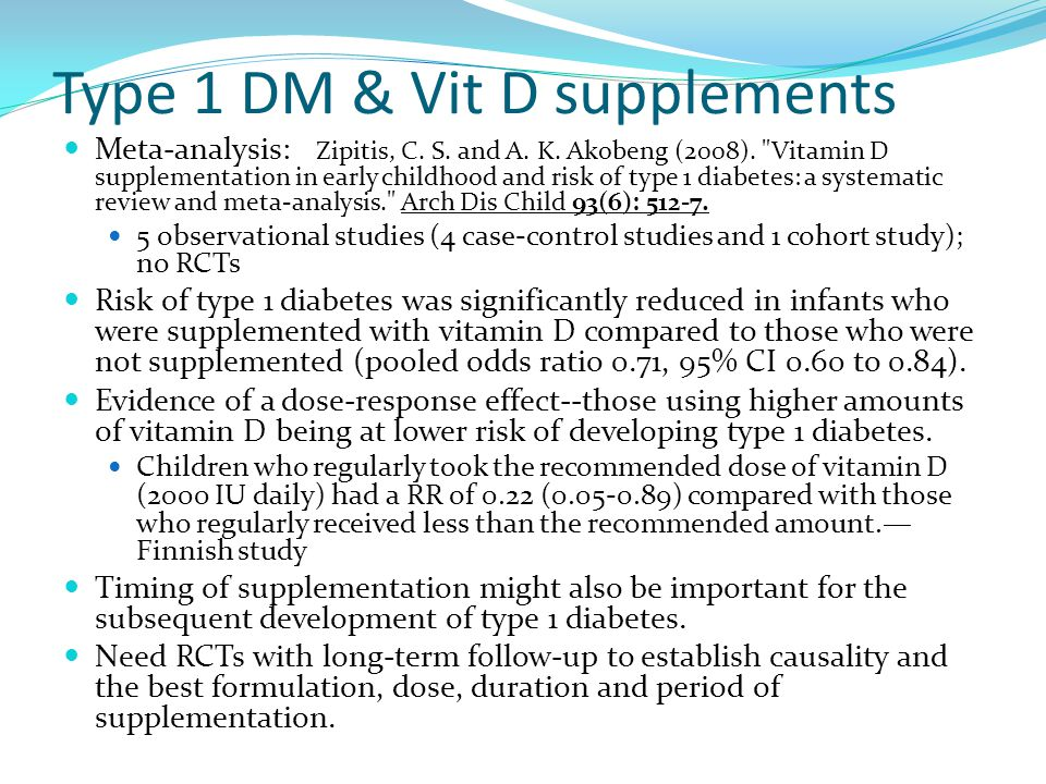 Type 1 DM & Vit D supplements