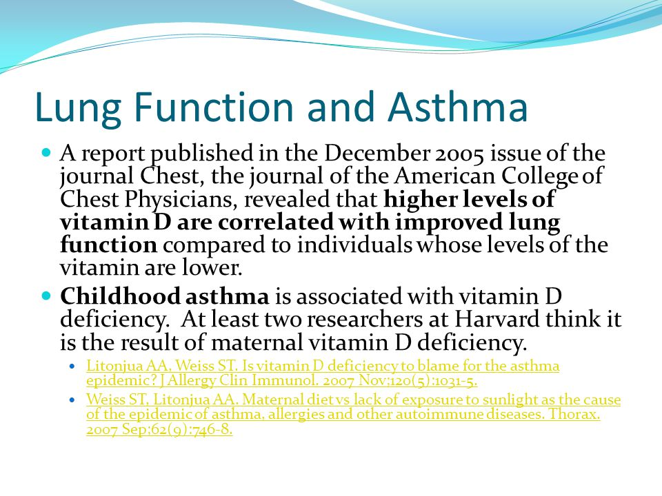 Lung Function and Asthma