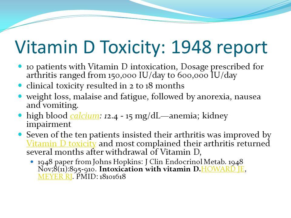 Vitamin D Toxicity: 1948 report