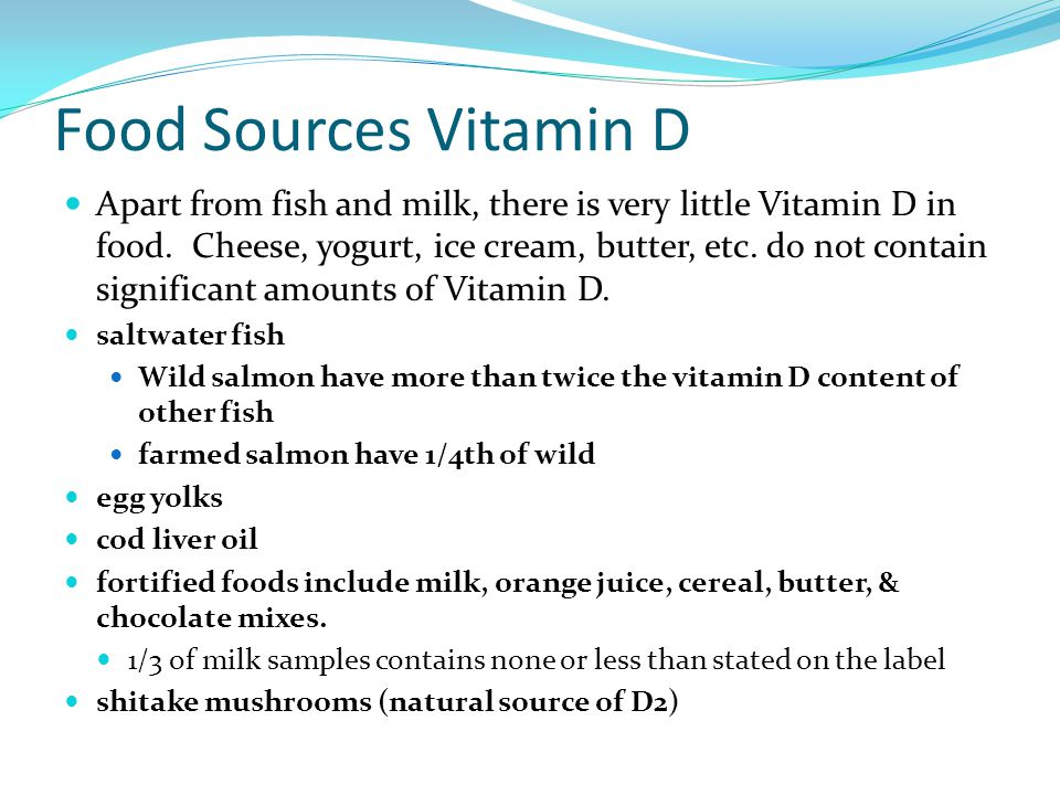 Food Sources Vitamin D