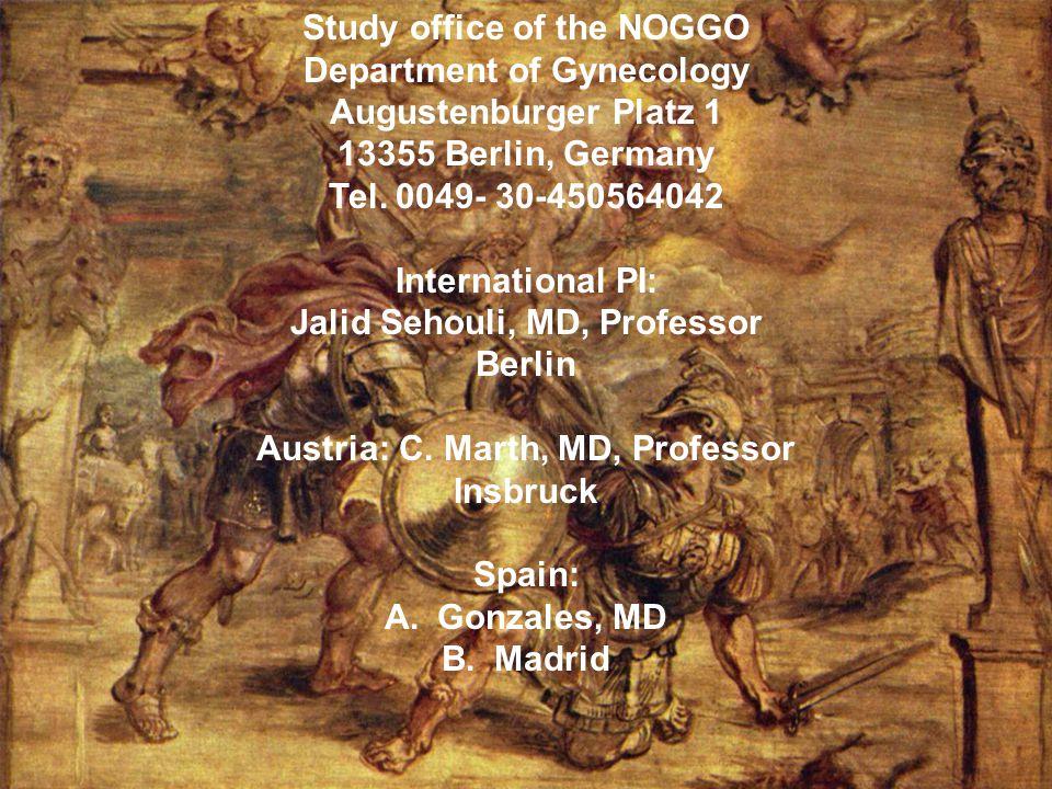 HeCTOR Studiensekretariat: PD Dr, J, Sehouli